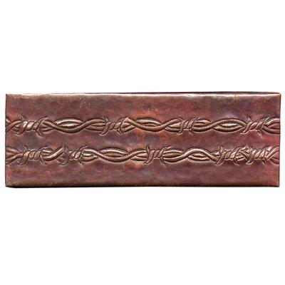 Barbed Wire 6 x 2 Copper Border Tile in Dark Copper