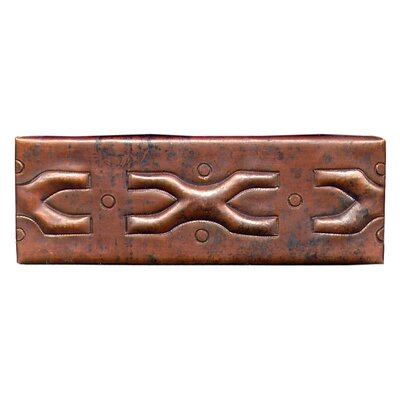 Medieval Band 6 x 2 Copper Border Tile in Dark Copper