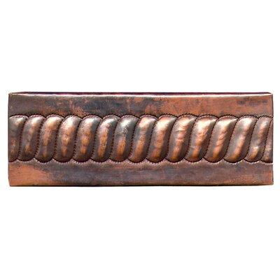 Chord 6 x 2 Copper Border Tile in Dark Copper