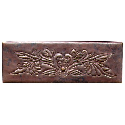 Bouquet 6 x 2 Copper Border Tile in Dark Copper