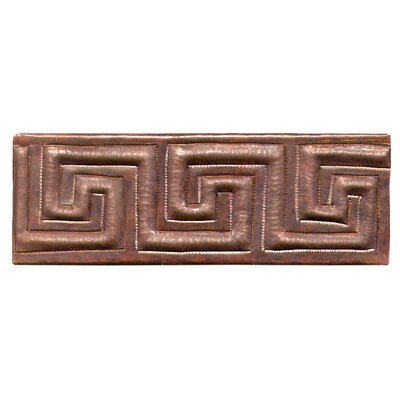 Greek Band 6 x 2 Copper Border Tile in Dark Copper