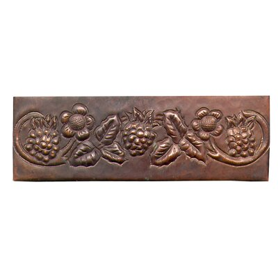 Grape Vine 6 x 2 Copper Border Tile in Dark Copper