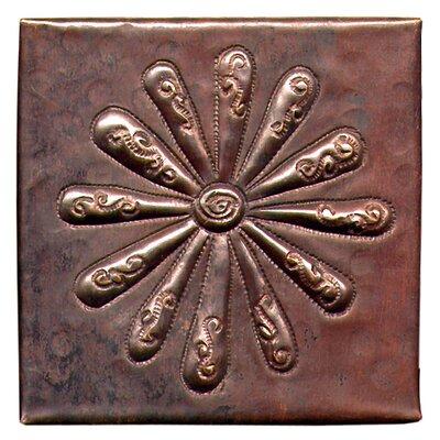 Burst 4 x 4 Copper Tile in Dark Copper