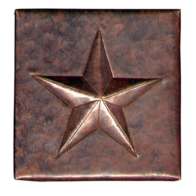 Star 4 x 4 Copper Tile in Dark Copper