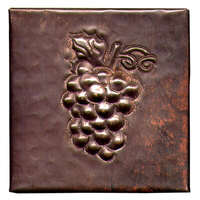 Grapes 4 x 4 Copper Tile in Dark Copper