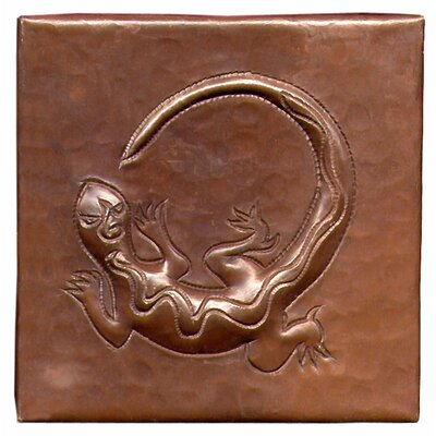 Gecko 4 x 4 Copper Tile in Dark Copper