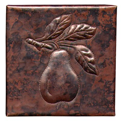 Pear  4 x 4 Copper Tile in Dark Copper