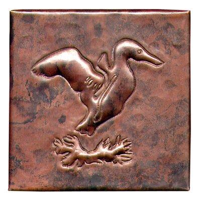 Gull 4 x 4 Copper Tile in Dark Copper