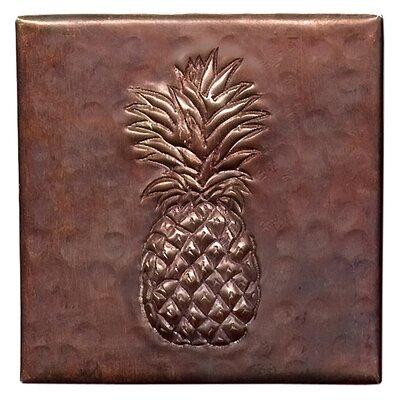 Pineapple 4 x 4 Copper Tile in Dark Copper