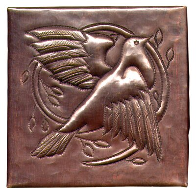 Dove 4 x 4 Copper Tile in Dark Copper