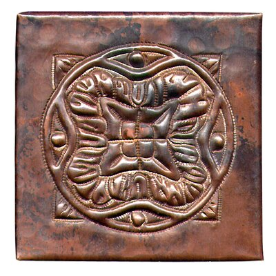 Spanish Mosaic 4 x 4 Copper Tile in Dark Copper