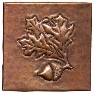 Acorn 4 x 4 Copper Tile in Dark Copper