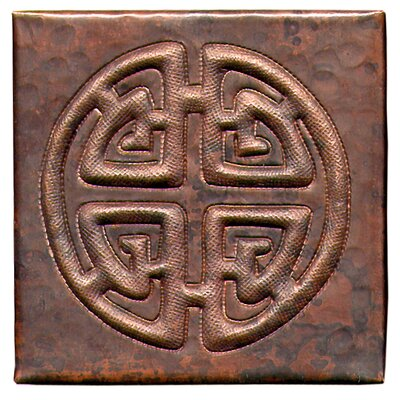 Celtic Cross 4 x 4 Copper Tile in Dark Copper