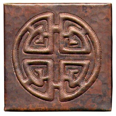 Celtic Cross 4 x 4 Copper Tile in Dark Copper