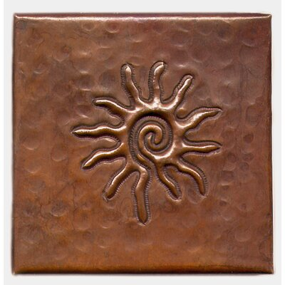 Infinite Sun 4 x 4 Copper Tile in Dark Copper