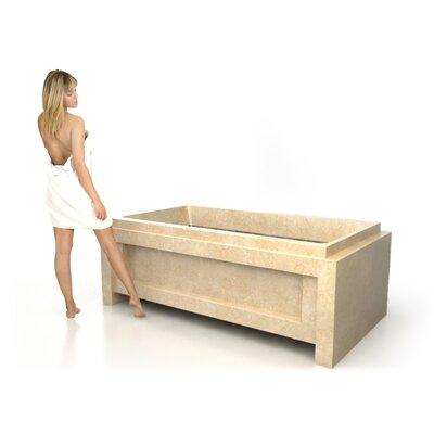 72 x 40 Soaking Tub Material: Galala Marble
