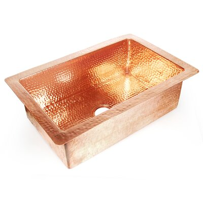 Copper 33 x 22 Hammered Single Bowl Kitchen Sink Finish: Shiny Copper