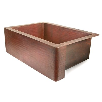 Copper 30 x 22 Farmhouse Kitchen Sink Finish: Dark Smoke Copper