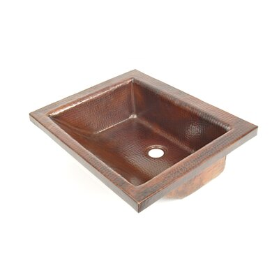 Copper Bathroom Sinks Metal Rectangular Drop-In Bathroom Sink Finish: Dark Smoke Copper