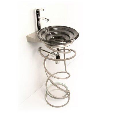 Iron Becha 20 Single Pedestal Bathroom Vanity Base