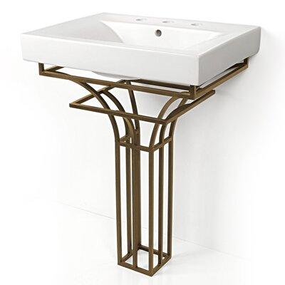 Iron Virtus 24 Single Pedestal Bathroom Vanity Set Base Finish: Antique Bronze