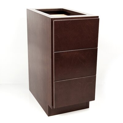 MDV Modular Cabinetry Drawer Base Finish: Espresso, Orientation: Left Hand