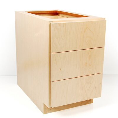 MDV Modular Cabinetry Drawer Base Finish: Golden Oak, Orientation: Right Hand