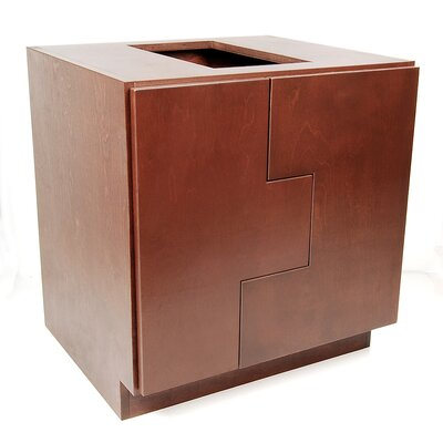 "MDV Modular Cabinetry 30"" Bathroom Vanity Base Base Finish: Traditional Cherry, Orientation: Right"