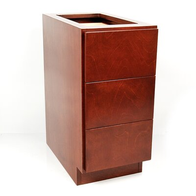 MDV Modular Cabinetry 3 Drawer Base Finish: Traditional Cherry