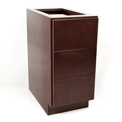 MDV Modular Cabinetry 3 Drawer Base Finish: Espresso