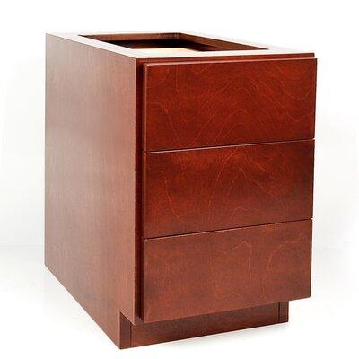 D'Vontz MDV Modular Cabinetry 3 Drawer Drawer Base Cabinet - Finish: Golden Oak