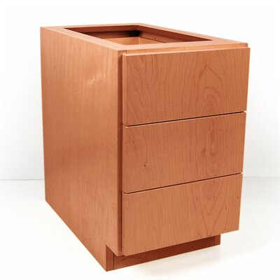 MDV Modular Cabinetry 3 Drawer Base Finish: Golden Oak