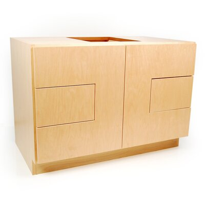MDV Modular Cabinetry 36 Bathroom Vanity Base Base Finish: Maple