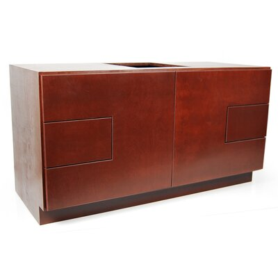 MDV Modular Cabinetry 48 Bathroom Vanity Base Base Finish: Traditional Cherry, Base Style: Solid