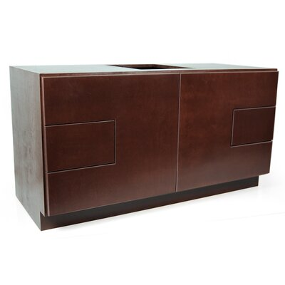 MDV Modular Cabinetry 48 Bathroom Vanity Base Base Finish: Espresso, Base Style: Footed