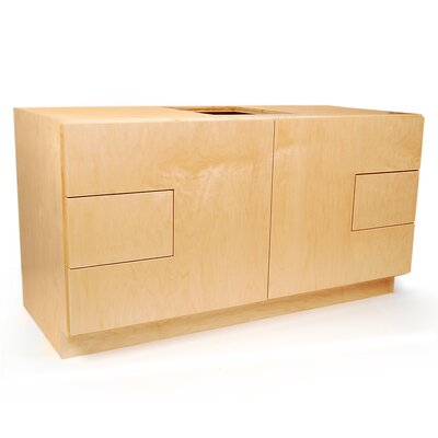 MDV Modular Cabinetry 48 Bathroom Vanity Base Base Finish: Maple, Base Style: Solid