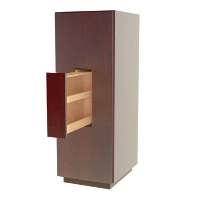 MDV Modular Cabinetry 18 W x 47.18 H Linen Tower Finish: Traditional Cherry, Orientation: Left Hand