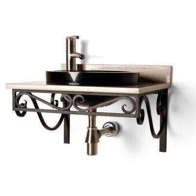 Iron 21 Single Bathroom Vanity Top Finish: Black Iron