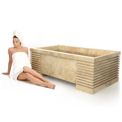 Roma Natural Stone 72 x 40 Bathtub Material: Galala Marble