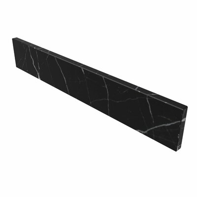 Natural Stone Backsplashes 25 Stone Backsplash Finish: Black Marquine