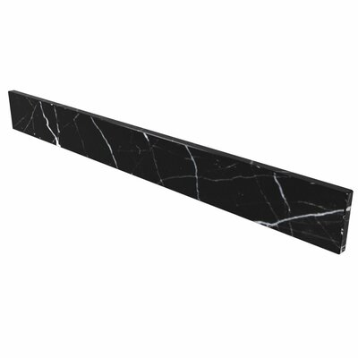 Natural Stone Backsplashes 37 Stone Backsplash Finish: Black Marquine