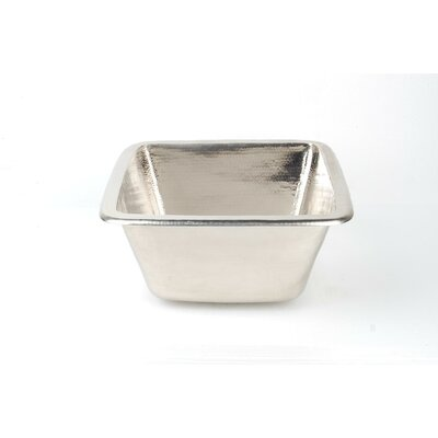 Copper 15 x 15 Undermoun Bar Sink Finish: Matte Nickel