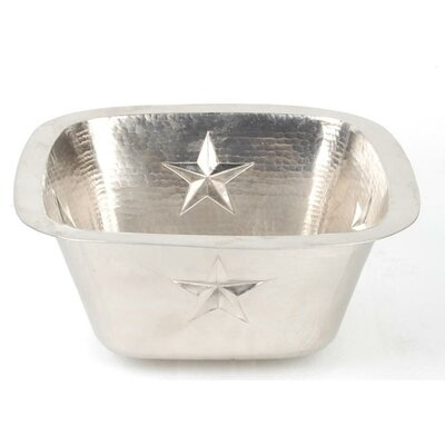Copper 15 x 15 Square Texas Star Embossed Bar Sink Finish: Matte Nickel