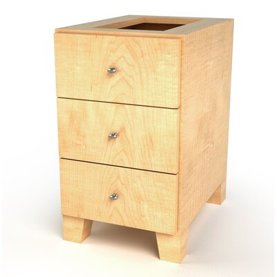 MDV Modular Cabinetry 3 Drawer Base Finish: Maple