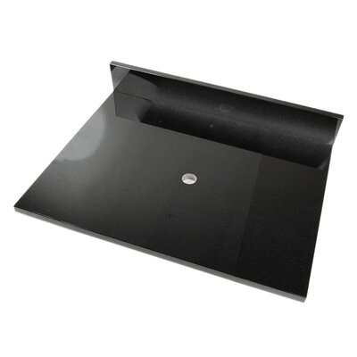 25 Single Bathroom Vanity Top Top Finish: Shanxi Black Granite
