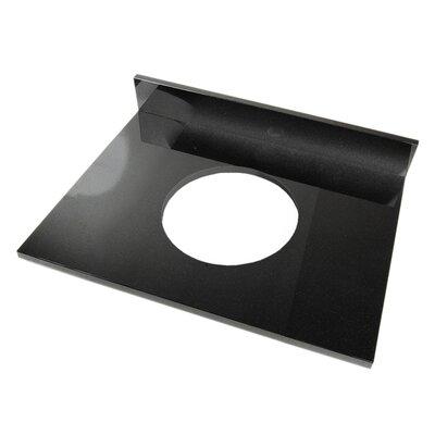 25 Single Bathroom Vanity Top Top Finish: Shanxi Black Granite