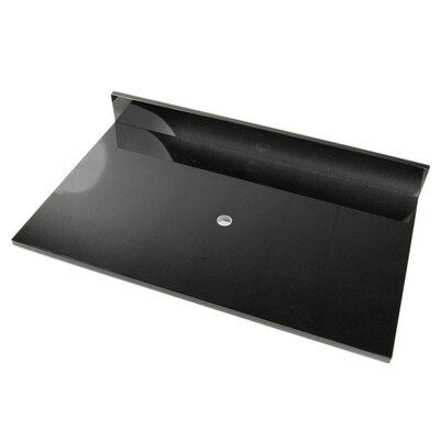 37 Single Bathroom Vanity Top Top Finish: Shanxi Black Granite