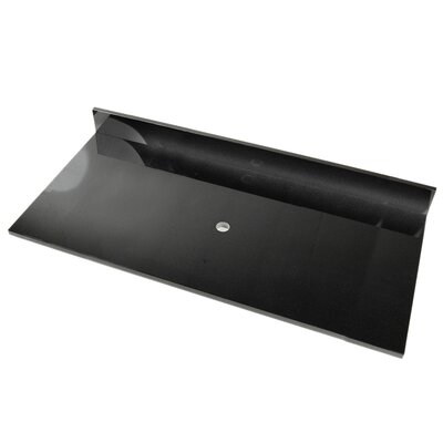 49 Single Bathroom Vanity Top Top Finish: Black Marquine