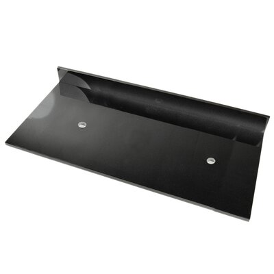 61 Double Bathroom Vanity Top Top Finish: Black Marquine
