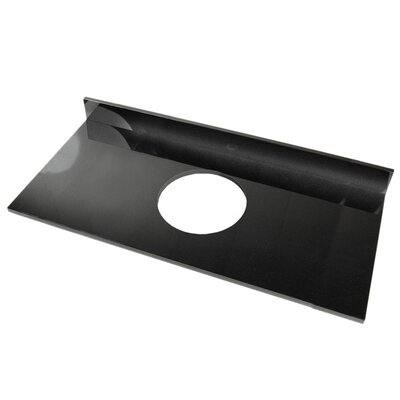 61 Single Bathroom Vanity Top Top Finish: Black Marquine, Faucet Mount: Single Hole